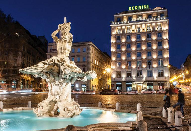 Luxury-hotel-Rome-evening-facade-Bernini-Bristol.c8e4090908d3f744ea270598ded413b9