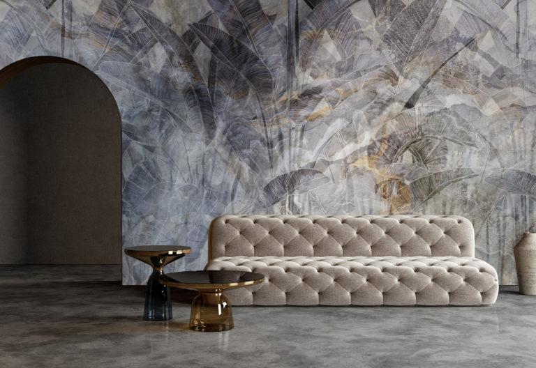 Modern,Minimalist,Interior,With,Arch,,Concrete,Floor,,Sofa,,Coffe,Table