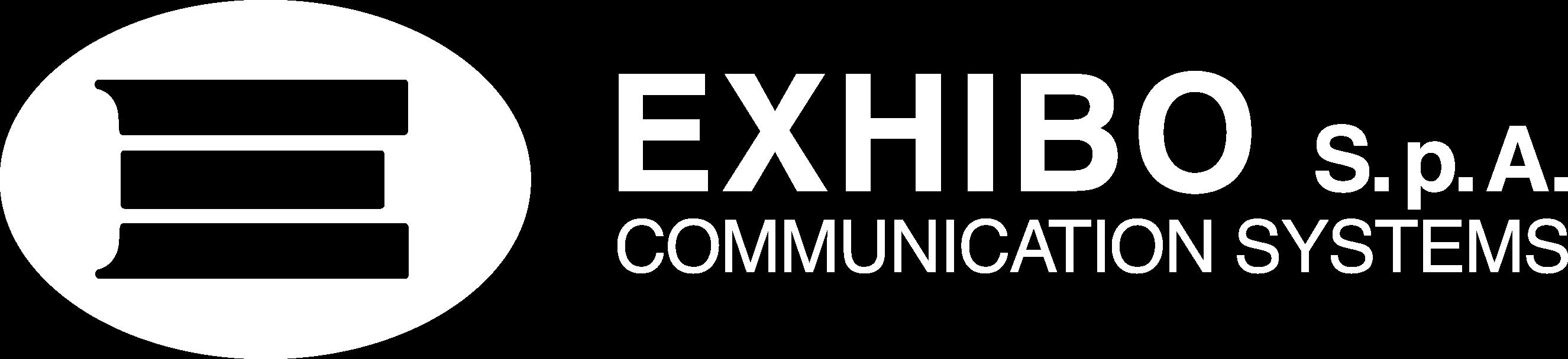 logo exhibo white